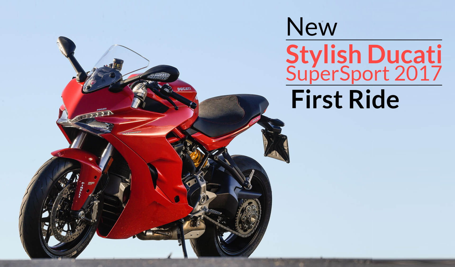 New Stylish Ducati SuperSport 2017 First Ride